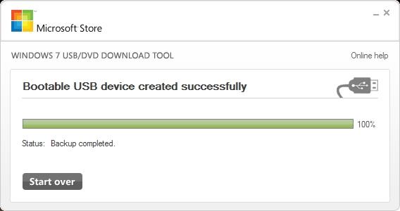 Bootable USB created