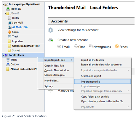 How to restore a Gmail backup using Thunderbird