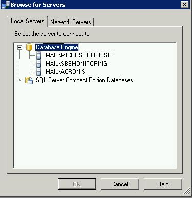 local system databases