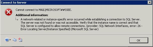 Cannot connect to database
