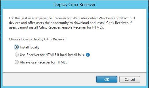 Deploy citrix Receiver