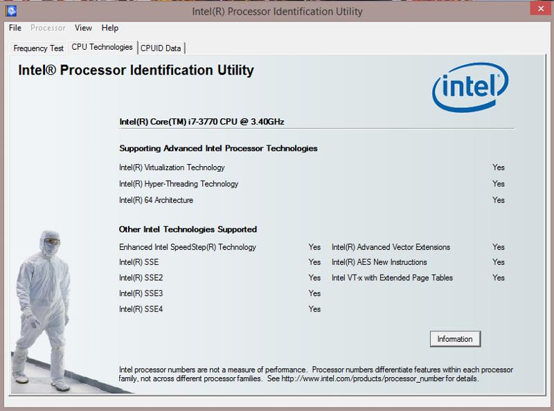 ntell utility run after hurning off hypervisor