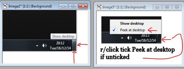 show desktop