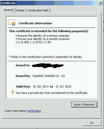 Certificate MMC