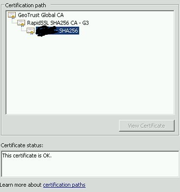Certificate MMC 2