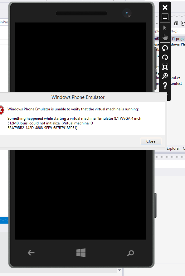 Error when in Visual Studio 2013