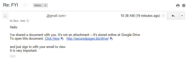 hacked gmail account