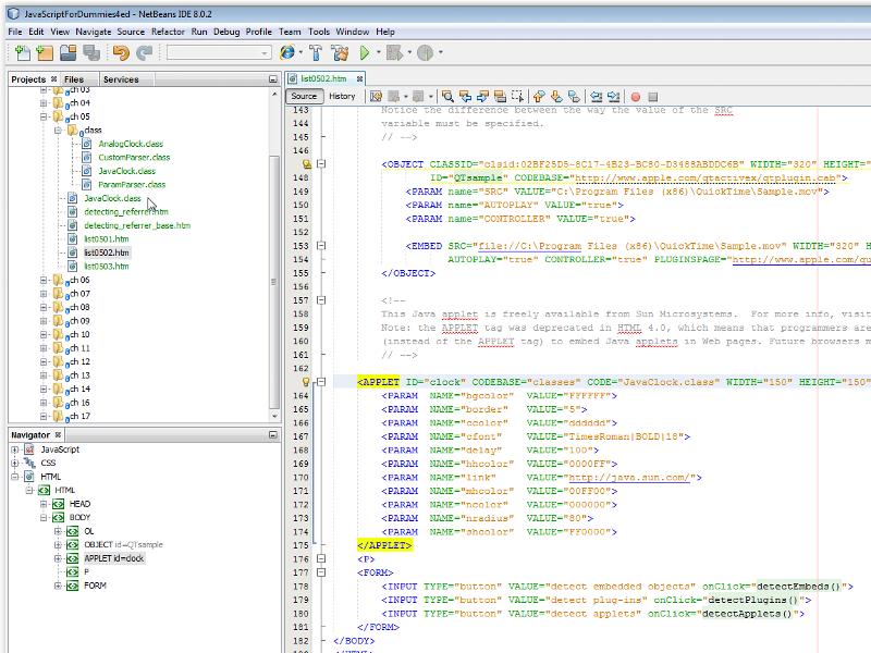 Files location in Netbeans IDE