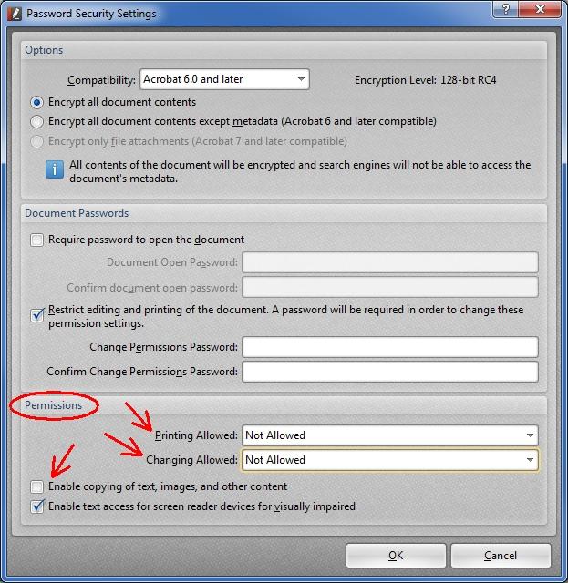 PDF-XChange Editor Permissions