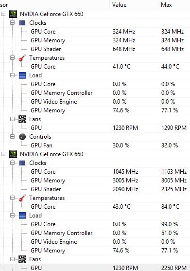Open Hardware Monitor Screenshot (Gameplay Paused & Minimized)