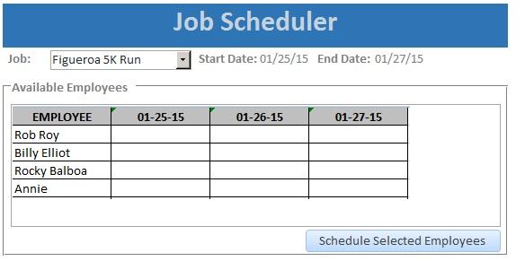 Initial Excel workbook