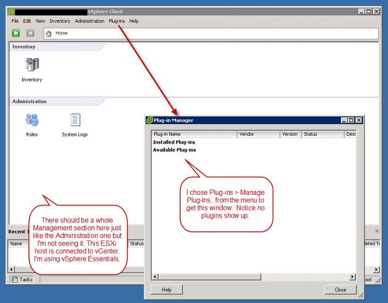 VMware vSphere Client plug-ins