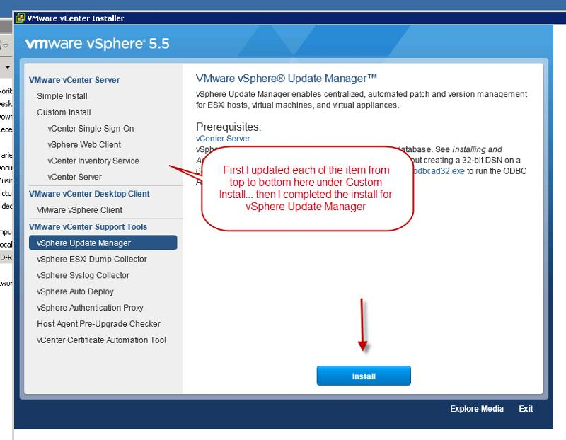 vSphere Update Manager Install