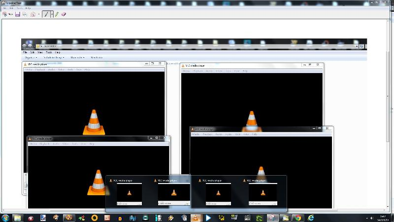 4 instances of vlc with aero peek
