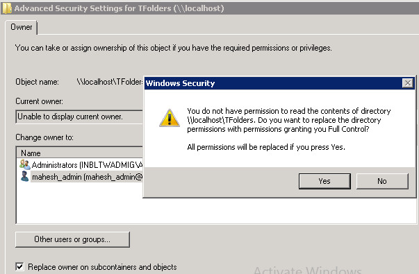 Windows File Server - Folder ownership problems and resolution