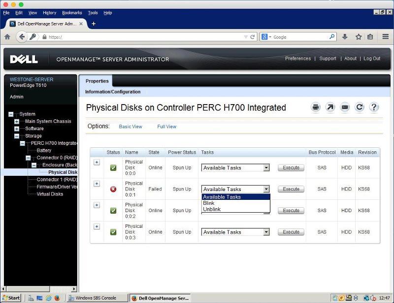 Dell t610 openmange raid