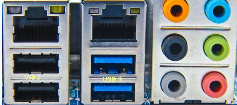 USB 2 and USB 3