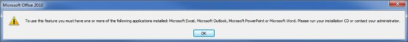 Send To MS Office fails