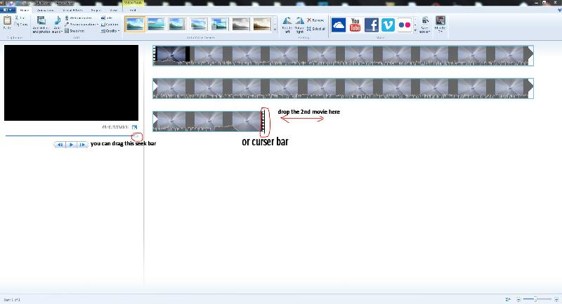 moviemaker move the seek bar or curser