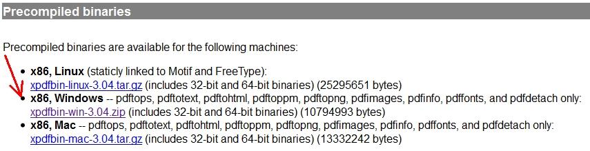 Xpdf - Command Line Utilities for PDF Files - Online
