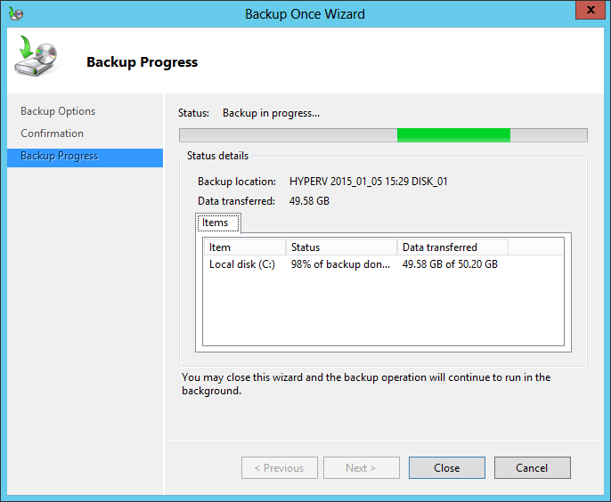 Backup C drive only