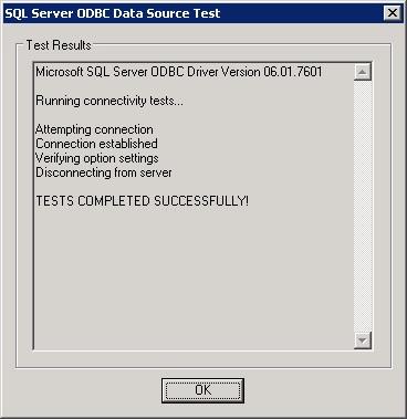 ODBC results