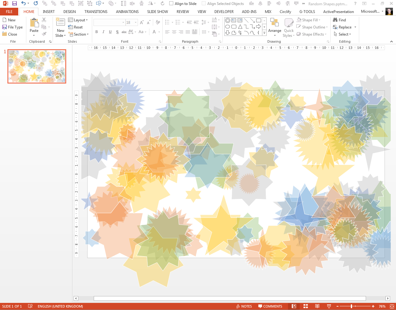 Programming PowerPoint with VBA to add random shapes to a slide