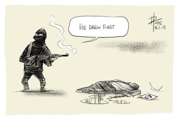 He Drew First