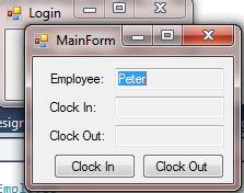 Login launces MainForm.  MainForm loads the information from the class.