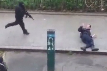 Goon chases downed, unarmed Muslim police
