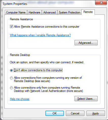 here's the dialog with the offending setting. needless to say this was different on the other workstation!