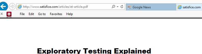 Sample PDF in IE 11 Windows 8.1