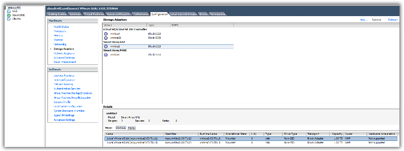 Smart array 642 in ESXi