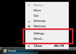Right-clicking on the windows taskbar of a Windows Vista operating system.