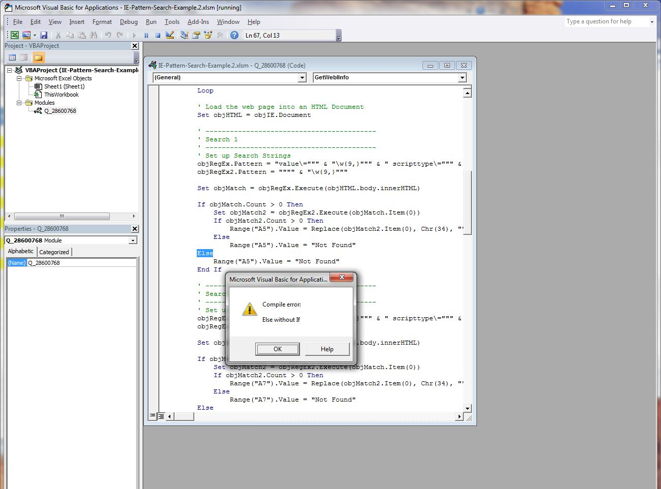 How to create a vba code to extract a string of data from