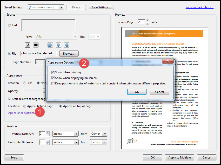How To Add, Remove And Update Watermark To PDF Using Adobe Acrobat