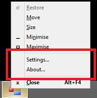 Holding Shift Right-Click on Windows 8/8.1 Dekstop Taskbar Icon.