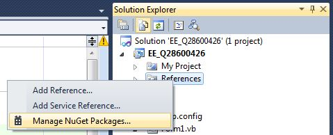 Right-click on the References in your Project and choose 'Manage NuGet Packages'