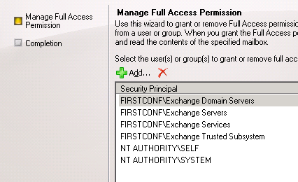 Full Access Permissions to account