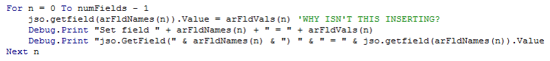 VBA Code to write values to form fields (this doesn't work)