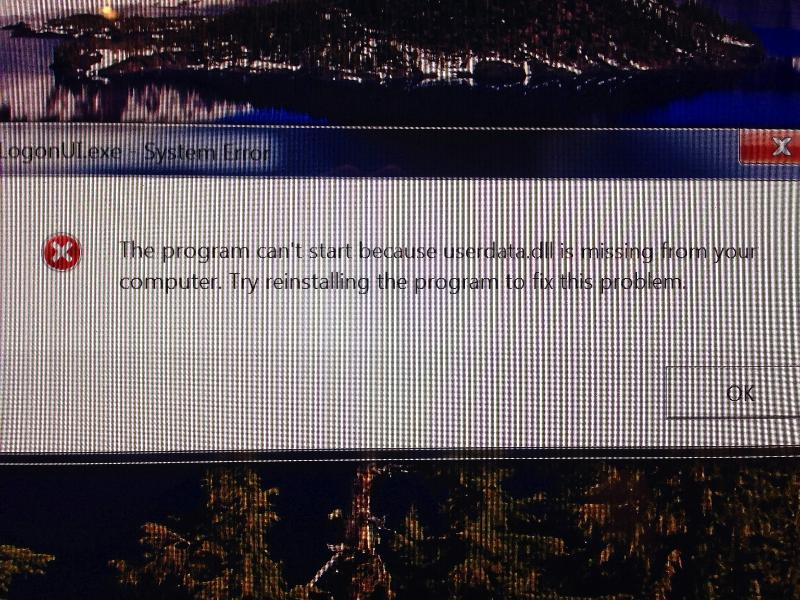 System Error Message