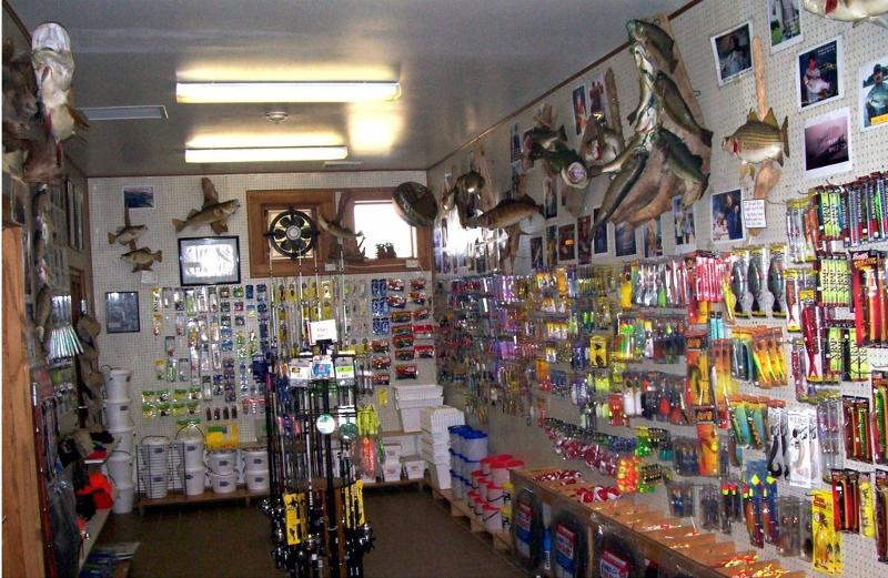 fresh water bait and tackle shop.