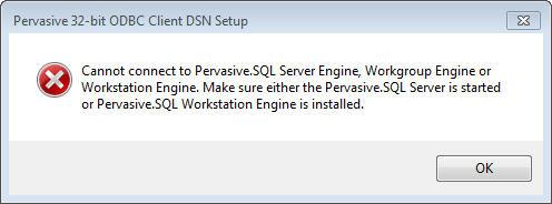 PERVASIVE SQL 11 ODBC TREIBER WINDOWS 8