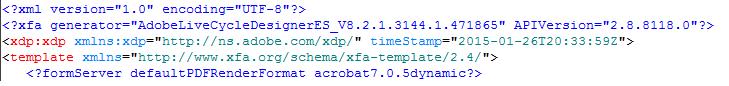 Top part of document's XML source