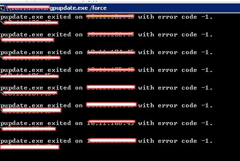 psexec error -1