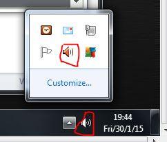 windows sound icon speakers and Realtek speaker sound icon