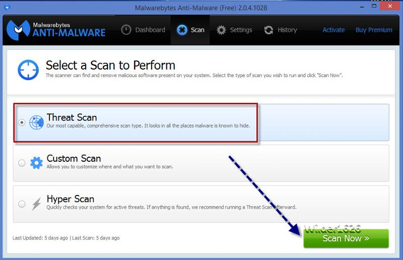 run malwarebytes