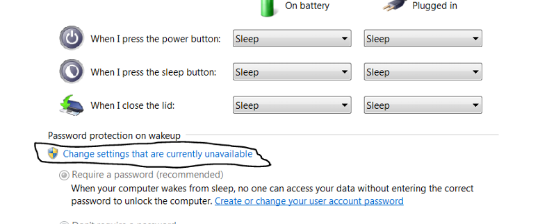 override default password on wake