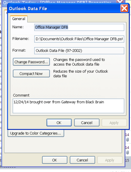 "Outlook PST file(s) brought to ""new"" PC from older PC - dating back to Outlook 2003"