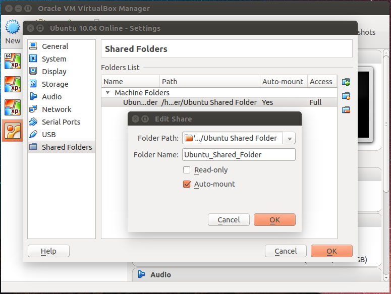 Unable to find shared folder in Ubuntu10 04 guest OS, Oracle